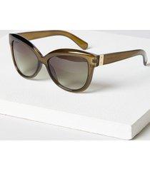 lane bryant women's classic cateye sunglasses onesz brown