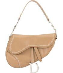 christian dior pre-owned stitching details saddle shoulder bag -