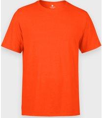 męska koszulka (bez nadruku, gładka) - pomarańczowa