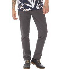 pantalon bolsillos slim gris corona