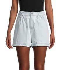 cotton-blend denim shorts