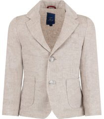 fay beige jacket for boy with logo