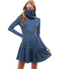 be bop juniors' tiered sweater dress and mask