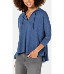 style & co hoodie 3/4-sleeve top, created for macy's