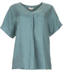 blouse met v-hals camellia  blauw