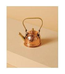 decorativo chaleira donousa de cobre e latão cor: cobre - tamanho: único