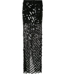 amir slama sequinned swimsuit - black