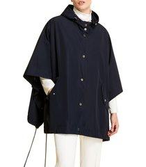 plus size women's marina rinaldi hooded nylon rain cape