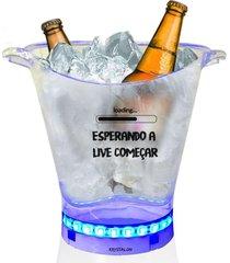 balde de gelo com led criativo com tema para live