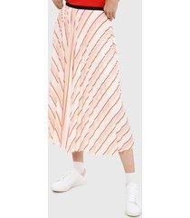 falda blanco-rosa-amarillo lacoste