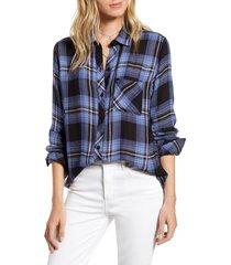 women's rails hunter plaid shirt, size x-large - blue