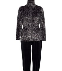 decoy velour homewear set pyjamas grå decoy
