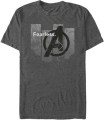 marvel men's avengers endgame fearless panel, short sleeve t-shirt