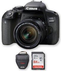 canon 800d / t7i con lente 18-55mm stm + memoria 64gb de 80mbs + bolso