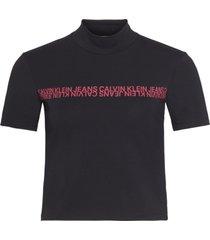 camiseta manga corta mirrored institutional mock n negro calvin klein