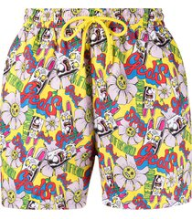 gcds out of this world printed swim shorts - yellow