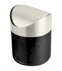 mind reader mini counterop trash can with lid 1.5 l / 0.40 gal - silver