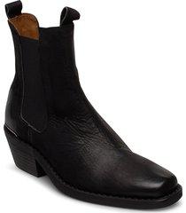 booties 3696 shoes boots ankle boots ankle boot - heel svart billi bi