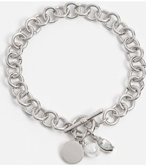 maurices womens silver toggle bracelet gray