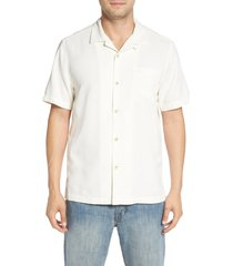 men's tommy bahama royal bermuda standard fit silk blend camp shirt, size xx-large - white