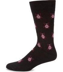 paul smith men's beetle-printed socks - black