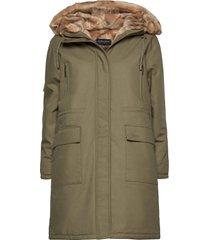 biella cotton parka parka lange jas jas groen lexington clothing