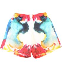 alexander mcqueen tie dye print nylon swim shorts