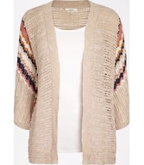 maurices womens open stitch sweater cardigan beige