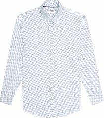 camisa casual manga larga estampada regular fit para hombre 97544