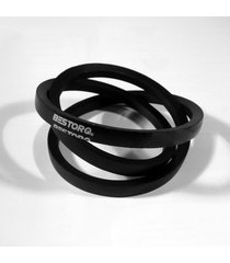 "bestorq a24 or 4l260 rubber v-belt, wrapped, black, 26"" length x 0.5"" width x..."