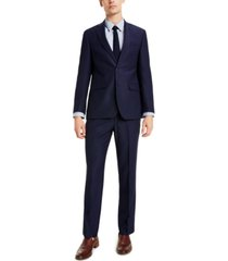 perry ellis men's slim-fit blue suit