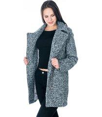 abrigo gris jaspe cremallera asimetrica
