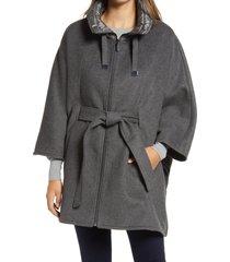 women's ellen tracy quilted collar wool blend cape