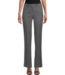 anne klein herringbone straight-leg pants