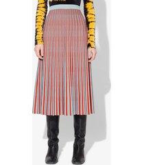 proenza schouler striped jacquard knit skirt light blue/coral xs