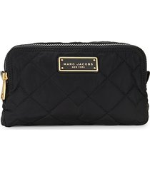 marc jacobs women's quilted cosmetic pouch - black