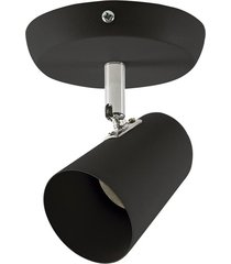 luminária spot bronzearte new short, preto fosco, 1 lâmpada