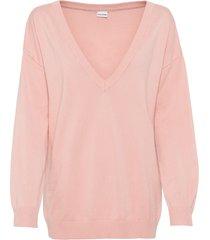 maglione oversize con scollo a v (rosa) - bodyflirt