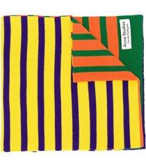 acne studios x jacob dahlgren colour-block striped scarf - orange