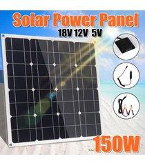 18v panel solar 150w mono usb 12v / dc 5v controlador flexible para el coche cargador de barcos - negro