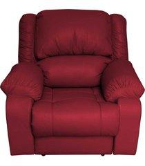 poltrona do papai reclinável elétrica magnum couro vermelho - gran belo