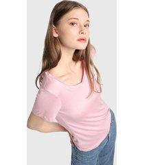 camiseta rosa active