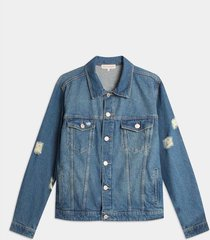 chaqueta denim tono medio