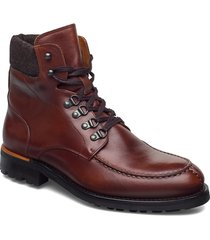 biacarney tweed boot snörade stövlar brun bianco