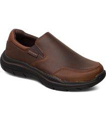 mens expected 2.0 loafers låga skor brun skechers