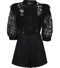 black cotton blend jumpsuit