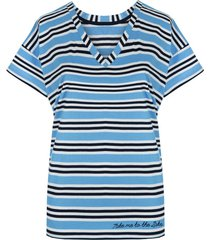 t-shirt basic blue stripes