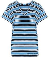 t-shirt basic blue stripes