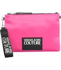 versace jeans couture pouch with logo