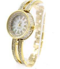 reloj dorado almacén de paris strass fiesta brillo elegante